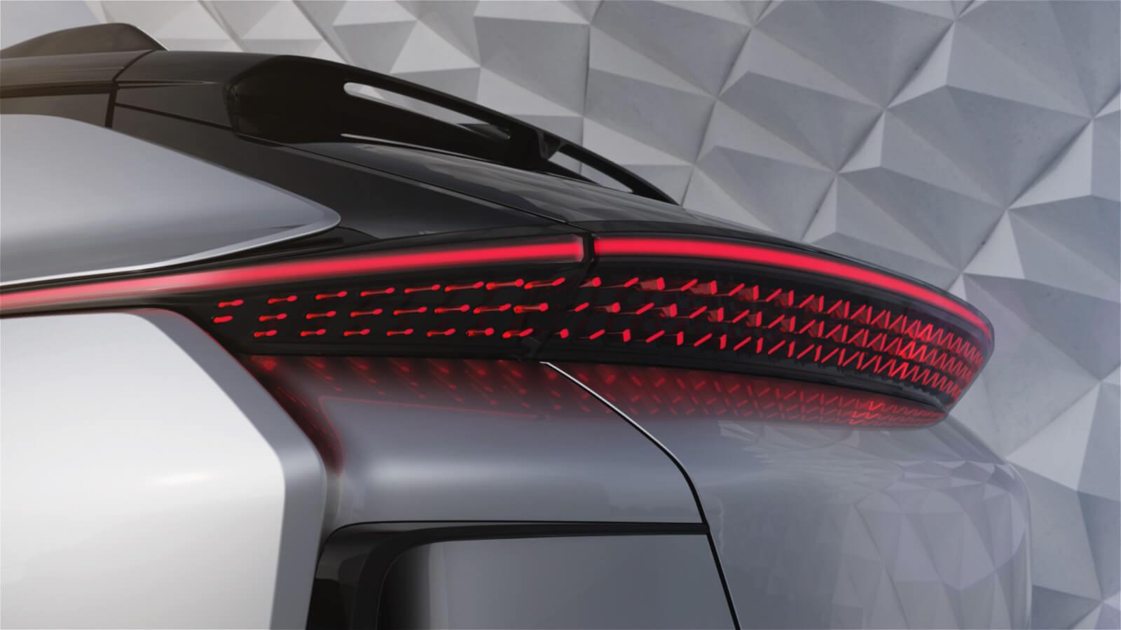 Detail zadních světlometů FF 91.