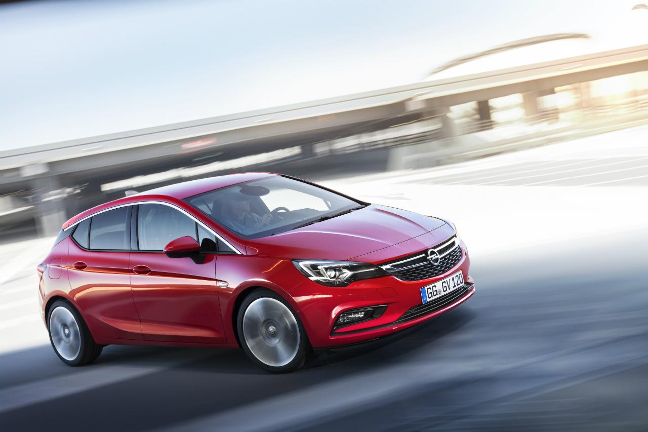 Současná vlajková loď německého Opelu, model Astra. Zdroj: Opel
