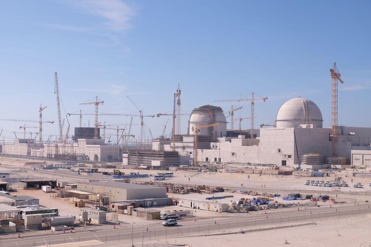 Výstavba jaderné elektrárny Barakah ve Spojených arabských emirátech, kterou staví Jižní Korea. Zdroj: iaea.org