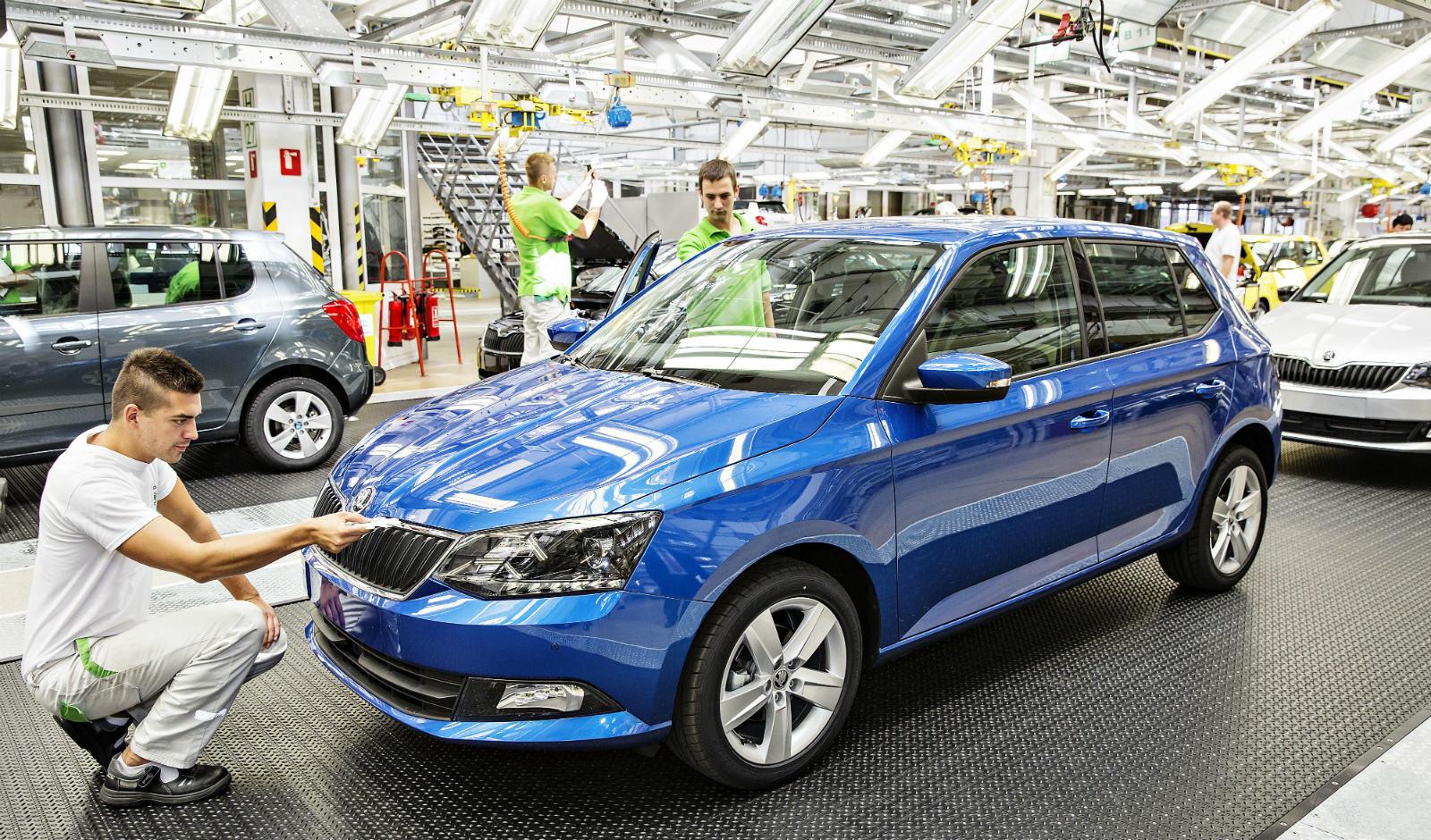 Výroba nové generace vozu ŠKODA Fabia. Zdroj: Škoda Auto