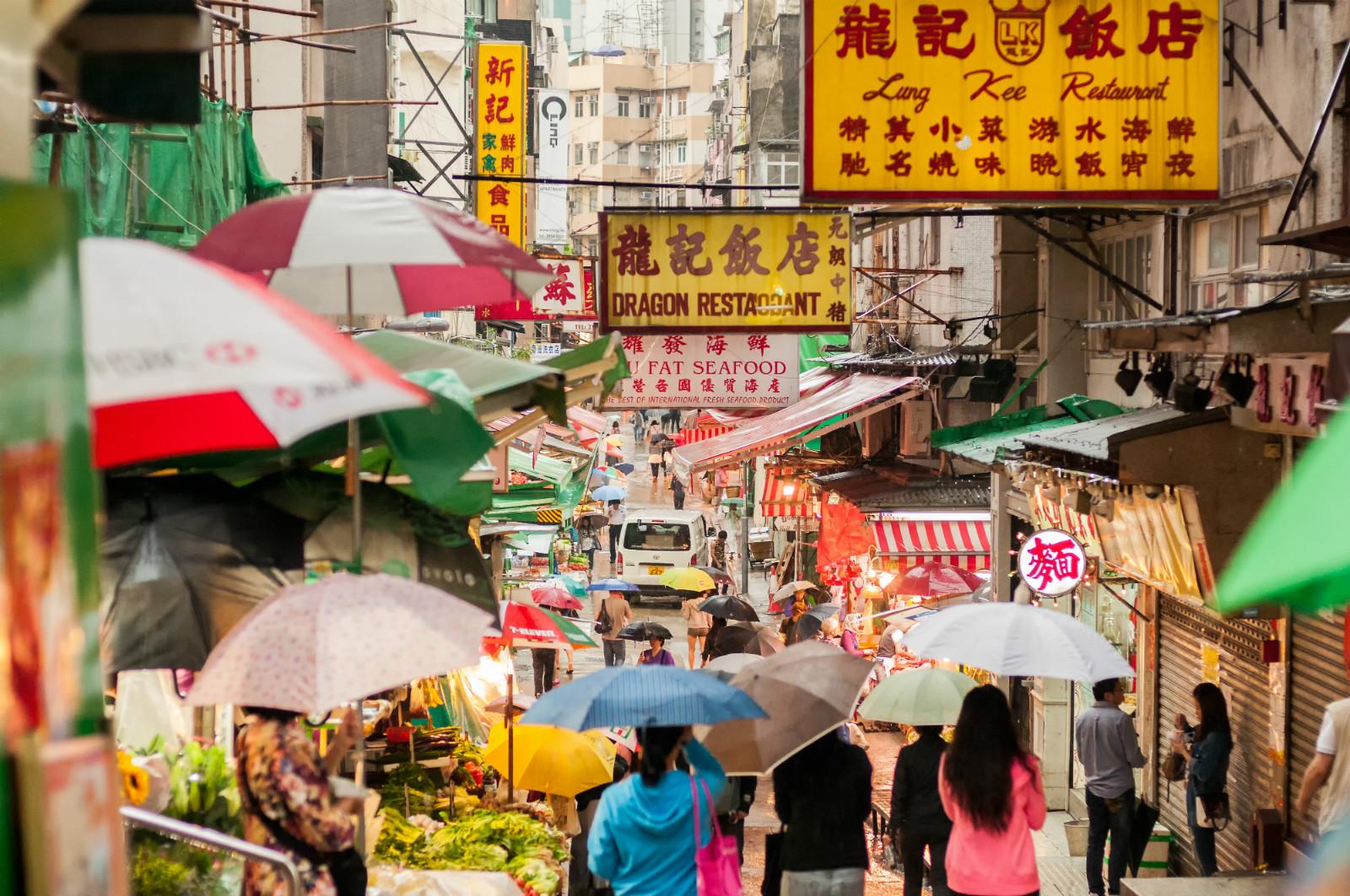 Deštník je v Číně velmi často nezbytnost. Zdroj: iStock