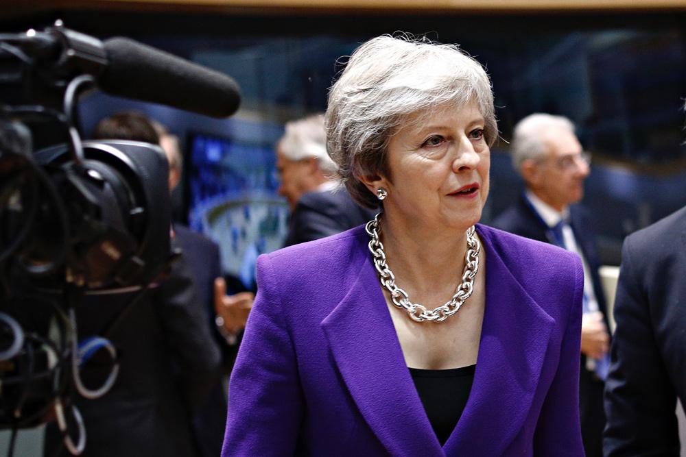 Brtiská premiérka Theresa Mayová na summitu EU v Bruselu. Zdroj: European Union