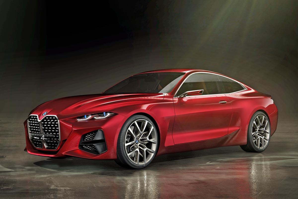 """Koncept BMW řady 4 překvapil výraznými """"ledvinkami"""" a ostře řezanými linkami."""