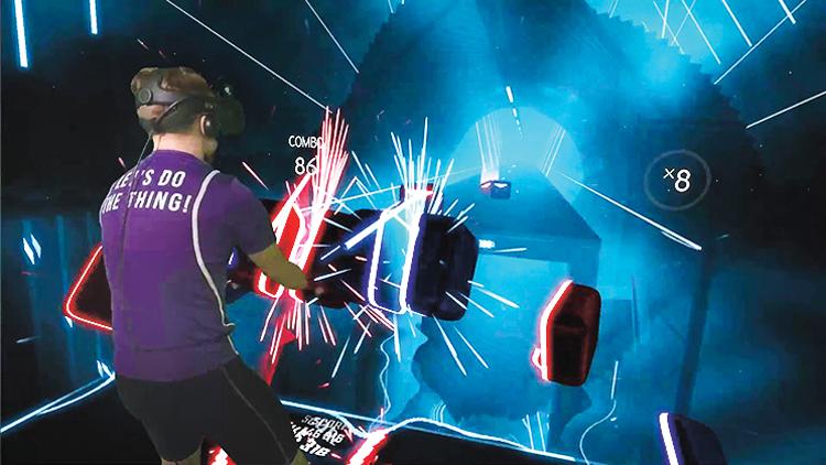 Hra Beat Saber pro virtuální realitu je dílem českého studia Beat Games. Foto: Beat Games