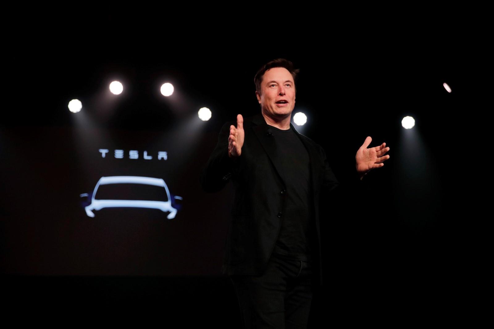 Šéf Tesly Elon Musk při představení nového Modelu Y. Foto: ČTK